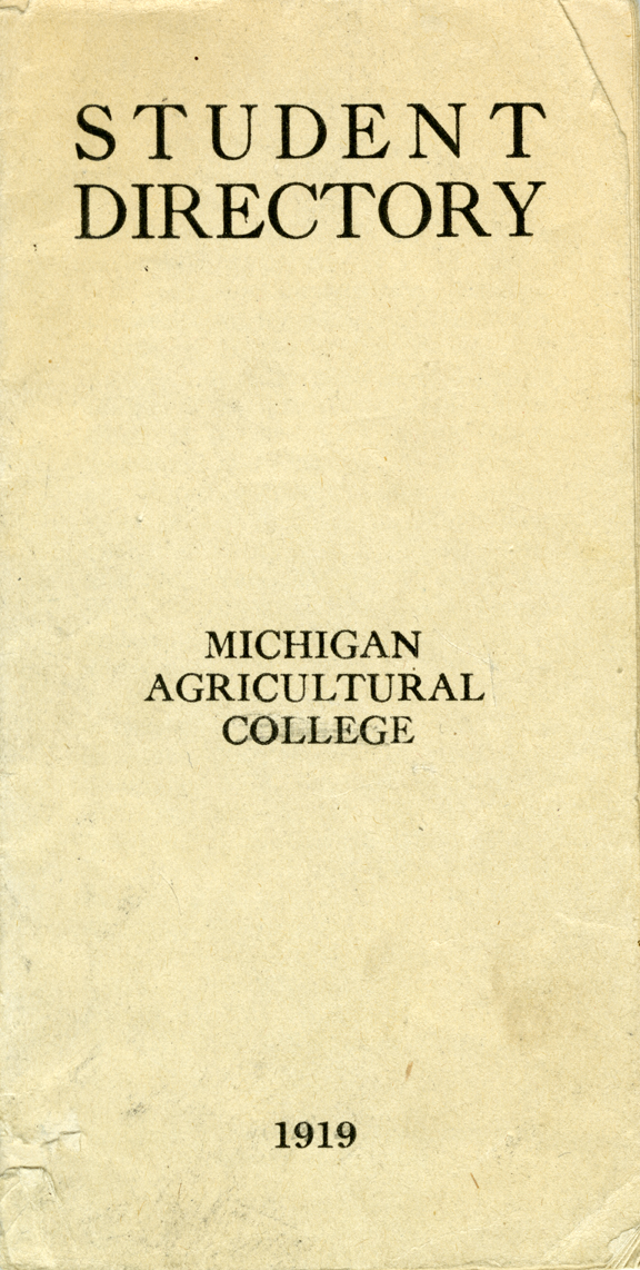 1919 Student Directory