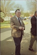 General Tienie Groenewald, former chief director of military intelligence, on his way to a meeting in September 1997.