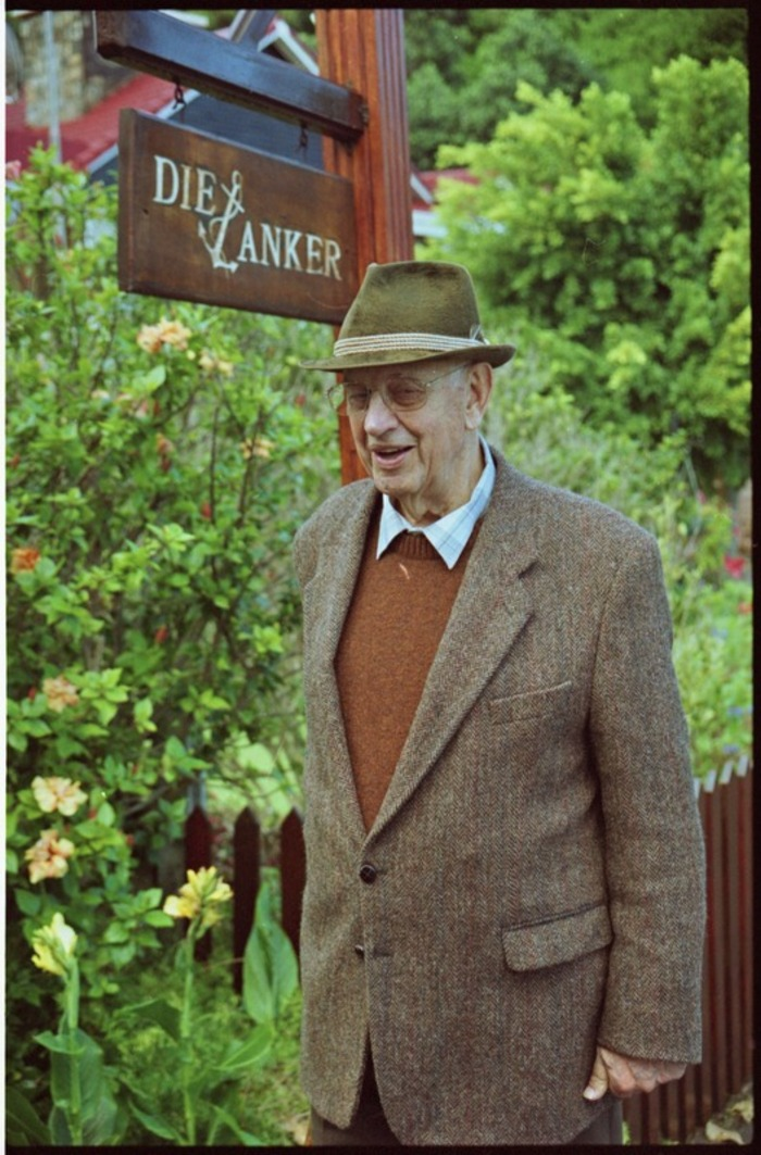 A rare photograph of former South African president PW Botha after retirement at his homestead, Die Anker, in the Wilderness in the Southern Cape in May 2003.