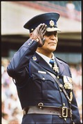Former police commissioner Hennie de Witt during a South African Police (SAP) ceremony on December 1, 1989.