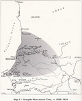 Map of the Senegalo-Mauritanian Zone