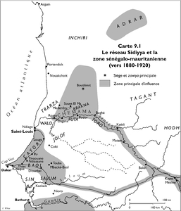 The Sidiyya Network and the Senegalo-Mauritanian zone (circa 1880-1920)