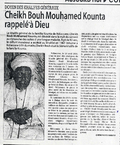 The most senior member of the Khalifs General: Shaykh Buh Muhamed Kunta called home to God