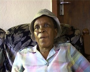 Nomvula September, a widowed pensioner from Sebokeng, during an interview with Dale McKinley and Ahmed Veriava.