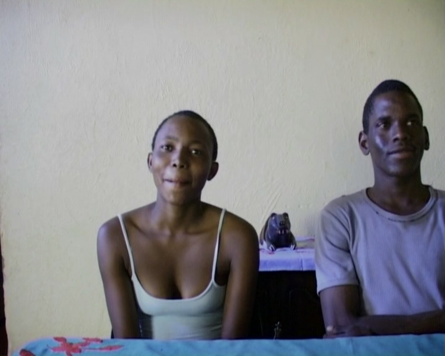 Pinky Komane and Lucas Serage, both high-school matric students and community activists from Maandagshoek, during an oral history interview with Dale McKinley and Ahmed Veriava.