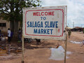 Sign indicating historic site of Salaga Slave Market