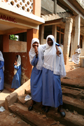 Two Female Students at an Islamic/secular school