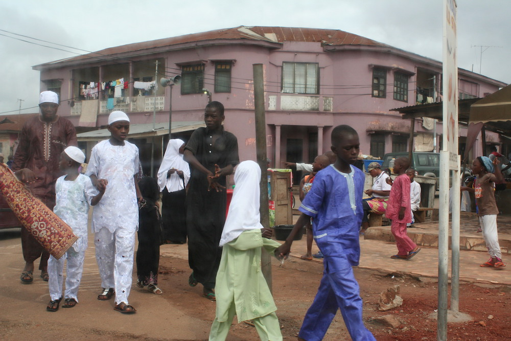 Walking to the Mosque