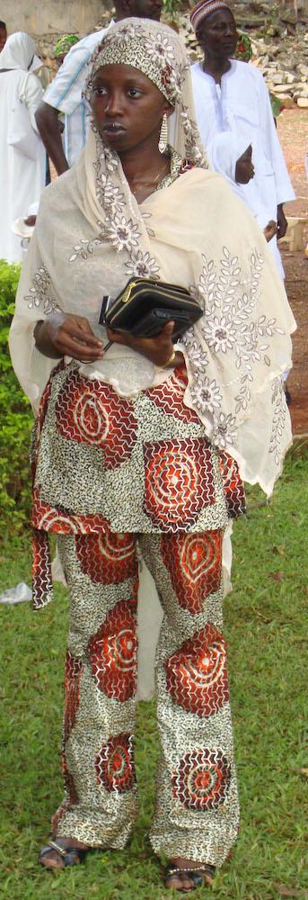 Pantsuit with Veil