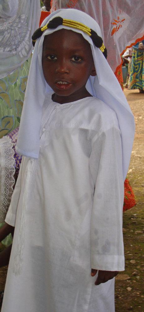 Boy with White Headdress