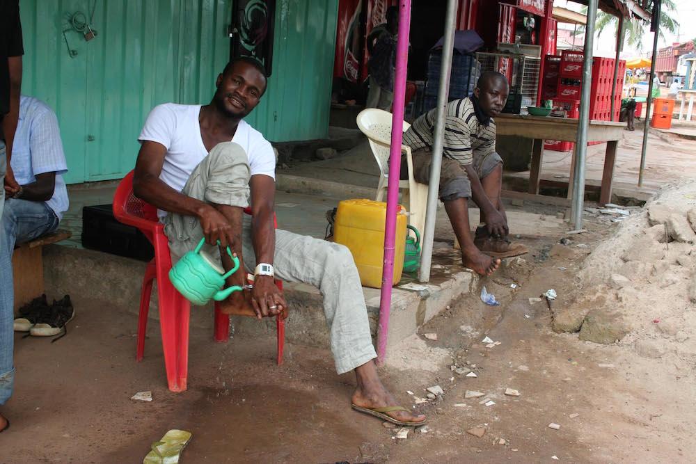 Foot Washing Before Prayer