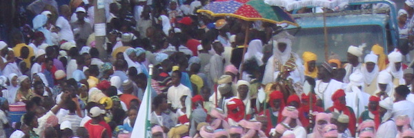The Zongo Chief in procession with his entourage.