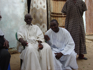 Photo of Alioune Makhtar Kounta and Koranic school teacher