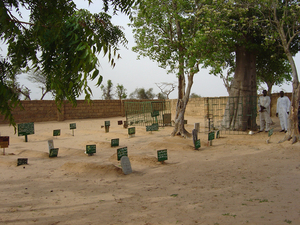 Photo of the Ndankh cemetery