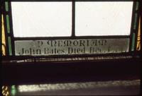 Bates Memorial detail