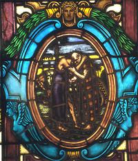 Joseph Embracing his Father Jacob close-up