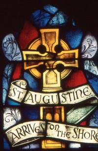 St. Augustine Arrives on the Shore