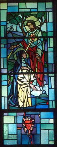 Jesus Blesses Margaret Mary Alacoque