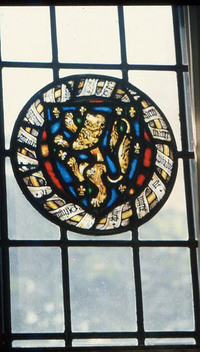 Shield with Rampant Lion