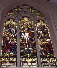 Worship of the Angels and Saints Adoring the Blessed Trinity