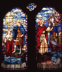 Jesus Baptized by John the Baptist/Christ Calling Andrew and Peter