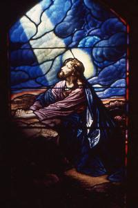 Jesus in Gethsemane Garden Praying