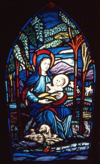 The Blessed Mary and Baby Jesus
