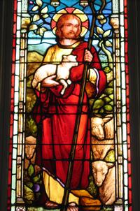 Jesus the Good Shepherd detail