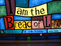 I Am the Bread of Life close-up
