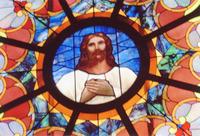 Christ Rose Window close-up