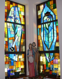Saint Joseph and Queen of the Rosary