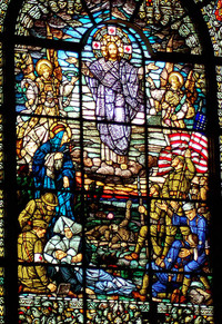 Christ and the Battlefield close-up