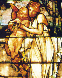 Muse holding Cupid close-up