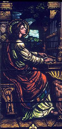 St. Cecilia at the organ