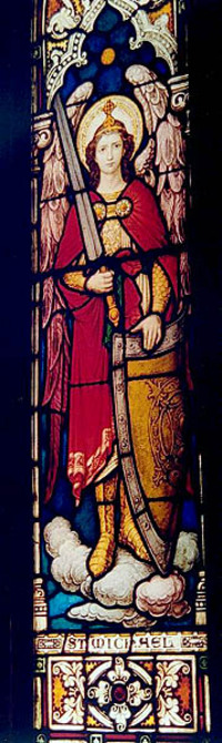 St. Michael with sword and shield