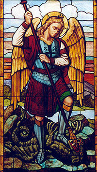Archangel Michael and dragon