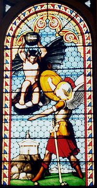 St. Michael battles the devil