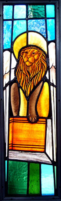 Winged Lion and Bible