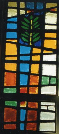 Christ's entry into Jerusalem window