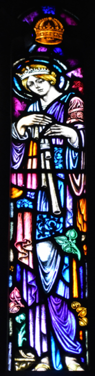 Female saint window
