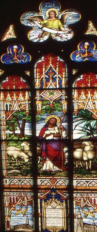 Good Shepherd Friedland Memorial close-up