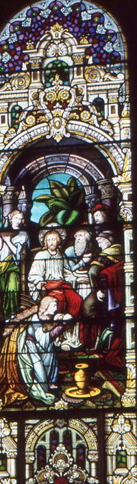 Mary Washes Jesus' Feet, close-up
