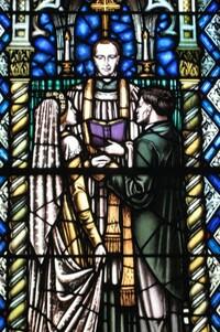 The Sacrament of Holy Matrimony close-up