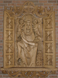 Pieta wood carving