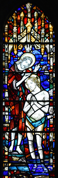 Baptism of Christ by John the Baptist, Part 2, top