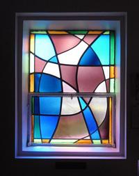 Sacristy, left window