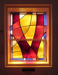 Sacristy, center window