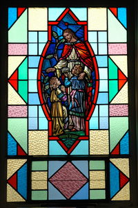 Jesus and the Children Chapel Window