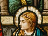Annunciation Mary Detail