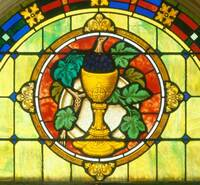 Chalice and Grapes Detail
